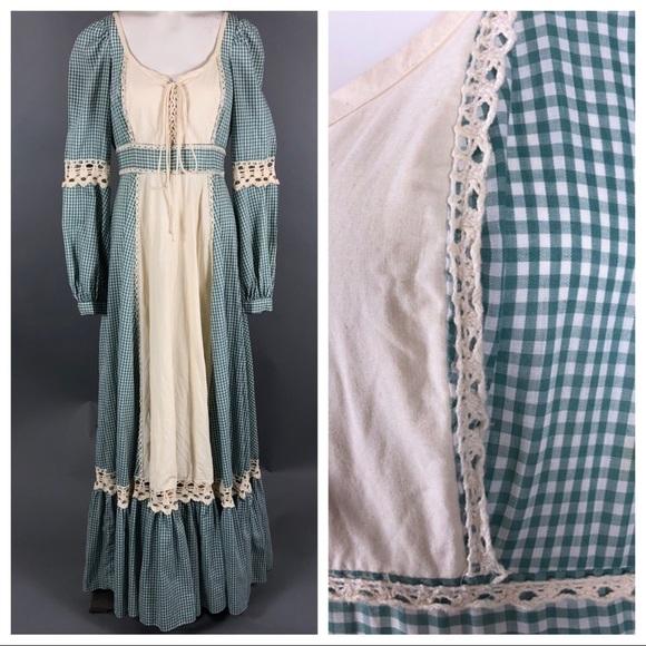 bfd8f0752b0e1 Vintage gunne sax prairie dress